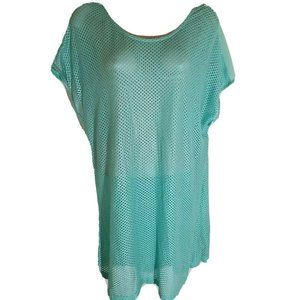 Pleione Open Mesh Fishnet Tunic Top Cover-Up